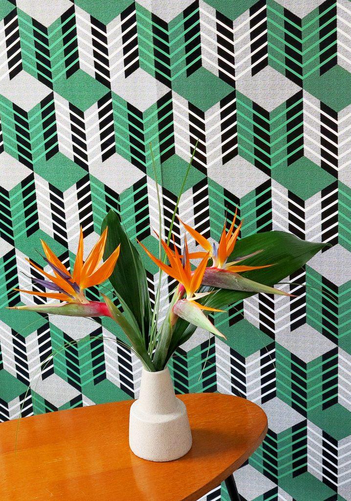 papier peint CITY vert