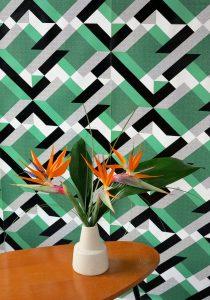 papier peint PATCH vert